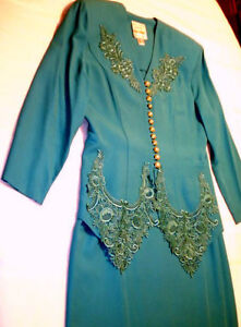 Beautiful Mother of the Bride Teal Suit, Size 12, just $40.00!!!