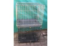 Dog cat kennels crate with opening doors medium