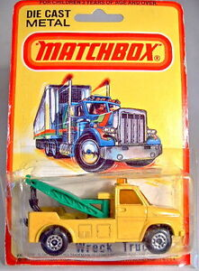 Matchbox No.61C Wreck Truck yellow body green booms mint