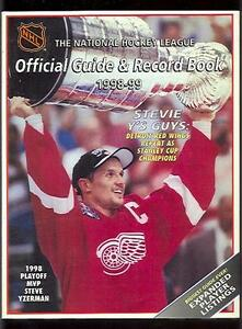 1998-99-NHL-Official-Guide-Record-Book-Steve-Yzerman-EX-Sku-54624
