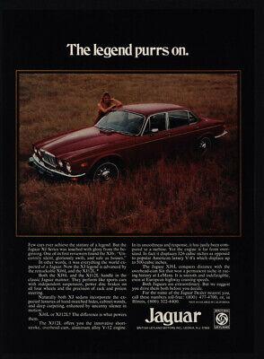 1975 JAGUAR XJ Series Luxury Car - Legend Purrs On - VINTAGE ADVERTISEMENT