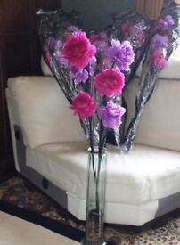 Next Artificial Flowers- Pink, lilac/ Purple- New in Packaging