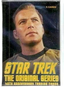 Star Trek 40th TOS  Card Set & Plastic Case ( Rittenhouse)