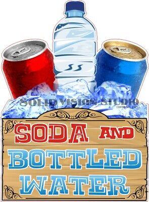 Soda Bottled Water Concession Cart Food Ice Cream Truck Vinyl Weatherproof Decal