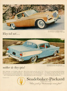 1957 large, full-page magazine ad for Studebaker-Packard