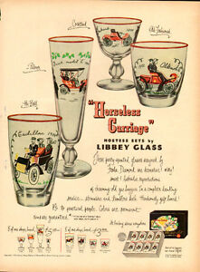 1950 large full-page magazine ad for Libbey Glassware
