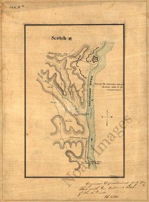 Topographical sketch of Decherd TN c1862 repro 12x15