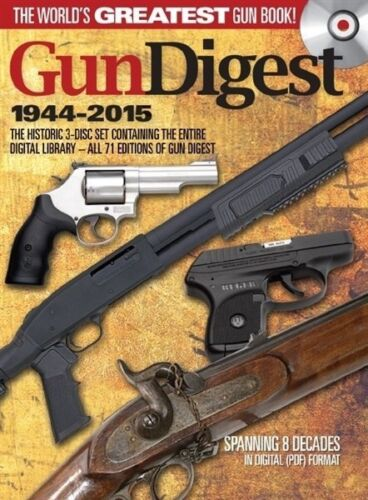 Gun Digest 1944-2015 3-Disc Set CD All 71 Editions Digital Collection Shooting