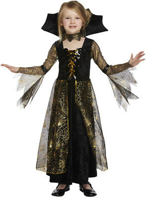 Spinne Vampir Halloween Kostüm Alter 7-9 Jahre V00158 (9 Jahre Alte Mädchen Halloween-kostüm)