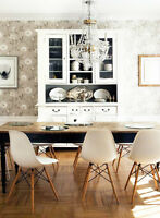 chaises blanche eames style chairs,vintage,modern,chaises,Eiffel