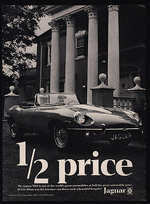 1969 JAGUAR XKE Convertible Luxury Car - Mansion - VINTAGE ADVERTISEMENT