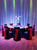 All-Inclusive chair cover rental deal! $ 3.00 per person.