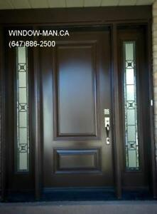 Door Front Modern Contemporary Entrance  Installed