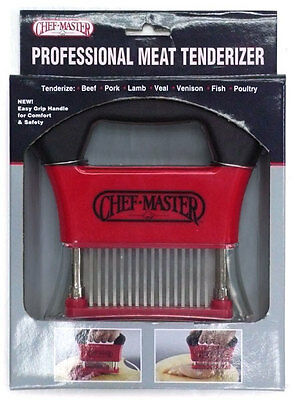Chefmaster 90009 Professional Hand Held Meat Tenderizer W 48 Ss Blades
