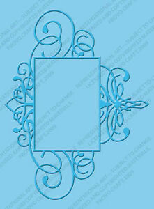 Cuttlebug A2 FLOURISHED FRAME embossing folder -$8