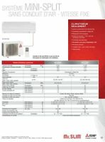 Climatiseur Air Conditionné Mr. Slim de Mitsubishi