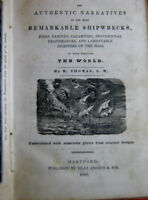 BOOK - REMARKABLE SHIPWRECKS by R. THOMAS PUBLISHED 1850