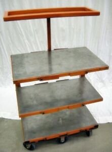 ADJUSTABLE SHOP CART WORK with CASTERS BALL BEARING BRACKET