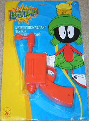 Looney Tunes Marvin the Martian Costume Prop Ray Gun Blaster MINT IN BLISTER