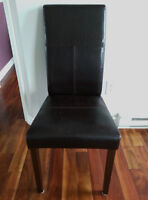 Set of 6 Faux Leather Dining Chairs