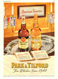 1948 full-page magazine ad for Park & Tilford Whiskey
