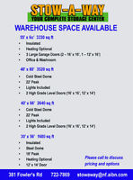 Warehouses for lease