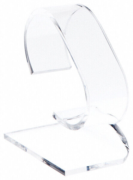 """Plymor Clear Acrylic Watch Display Stand, 1.75"""" W x 3"""" D x 3.75"""" H (2 Pack)"""