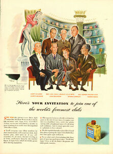 1947 original full-page, print ad for Aqua Velva After Shave
