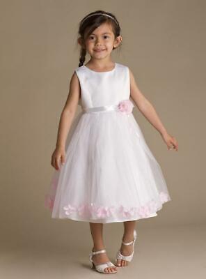 Girls Dresses Baby Flower Girls Party  Wedding Christening Dresses Petals ()