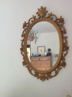Ornate Vintage Syroco Mirror / Miroir Antique Syroco