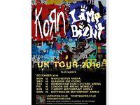 Korn LimpBizkit tickets stabding