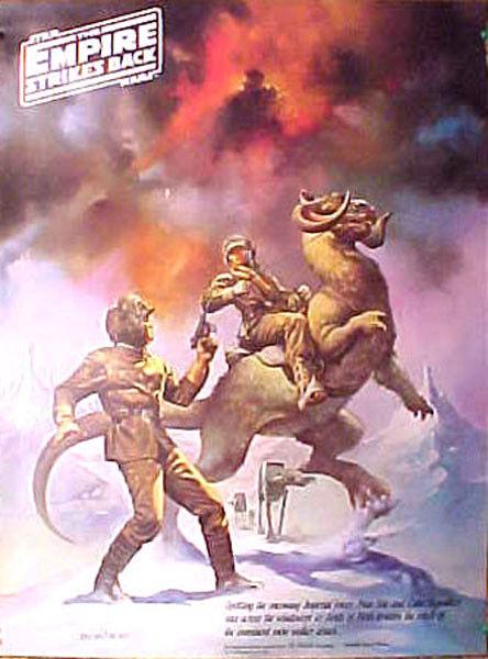 Original 1980 Star Wars:ESB Boris Promo Poster #2 Han & Luke