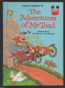 "Disney's ""Adventures of Mr. Toad""-1981 -HC"
