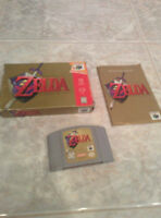 Zelda ocarina of time boxed and complete N64