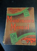 Vintage 1946-48 Chevrolet Passenger Car Maintenance Manual