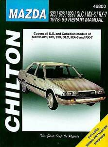 Chiltoons Mazda manual 1978 to 1989