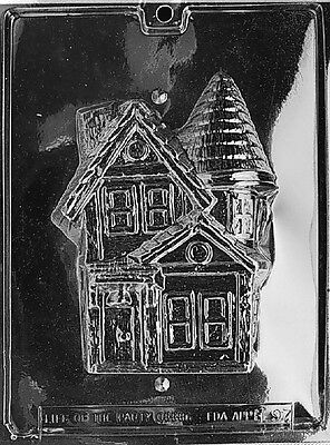 3D HAUNTED HOUSE 2 PART MOLD Chocolate Candy molds halloween houses - Halloween Candy Part 2