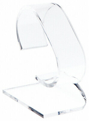 Plymor Clear Acrylic Watch Display Stand 1.75 W X 3 D X 3.75 H 6 Pack