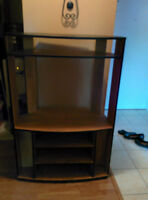 Black Wood Entertainment Unit/Media Centre/TV Stand