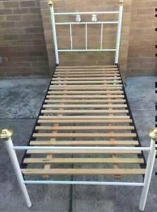 Excellent metal single bed frame only for sale. Pick up or deliver