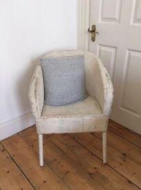 Lloyd loom white wicker vintage chair