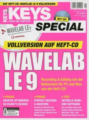 WaveLab LE 9 - Genuine full license from Keys Special (License code only)