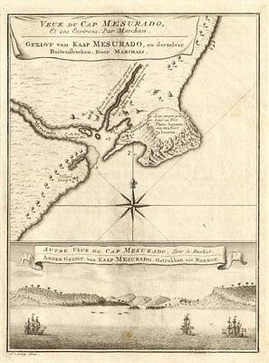 'Veue du Cap Mesurado…' Cape Mesurado, Monrovia, Liberia. BELLIN/SCHLEY 1748 map