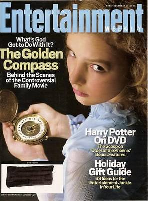Golden Compass Entertainment Weekly Dec 2007 Dakota Blue Richards John Cusack