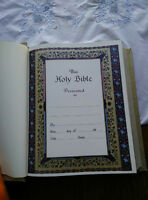 Brand new large bible. 1ft by 1ft.