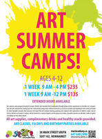 ART SUMMER CAMPS in Newmarket