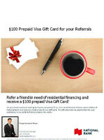 $100 Prepaid Visa Gift Card for your Referrals