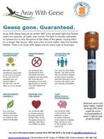 Away With Geese deterrents - GEESE GONE. GUARANTEED.
