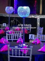 Wedding Party decoration, Crystal centerpieces for sale & rental