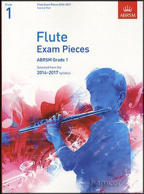 Flute Exam Pieces ABRSM Grade 1 2014-2017 Flute Part & Piano Score Music Book